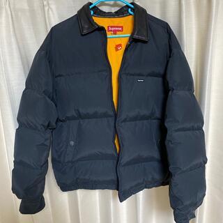 Supreme - Supreme leather collar puffy jacket