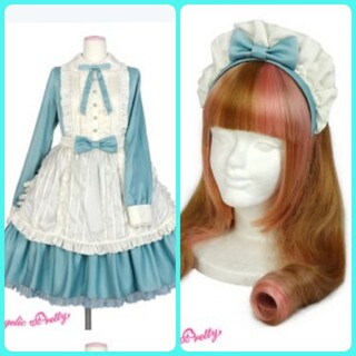 Angelic Pretty - AngelicPretty Silky Lady ワンピース&カチューシャ