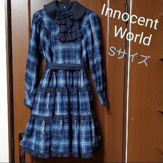 Innocent World - ロイヤルチェックワンピース 青