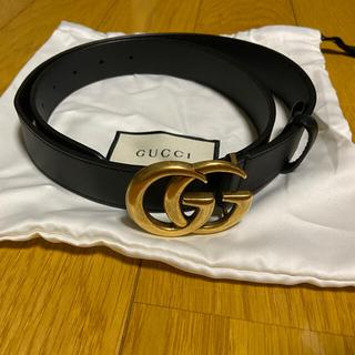 Gucci - GUCCI レザーベルト(ダブルGバックル)