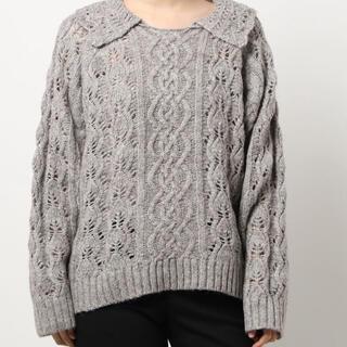 サマンサモスモス(SM2)のSM2 柄編み衿付ニット  (ニット/セーター)