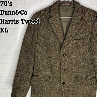 ハリスツイード(Harris Tweed)のレトロ ヴィンテージ 古着 70s ブリティッシュ 英国紳士 ハリスツイード(テーラードジャケット)