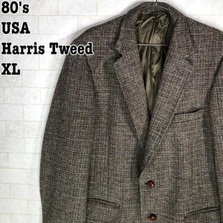 ハリスツイード(Harris Tweed)のUSA製 80's レトロ 昭和 ヴィンテージ ツイード くるみボタン ハリス(テーラードジャケット)