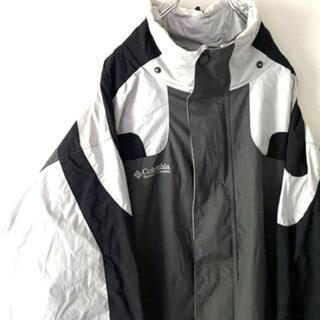 コロンビア(Columbia)のコロンビアロゴ刺繍 マウンテンジャケット L グレー灰色 古着(マウンテンパーカー)
