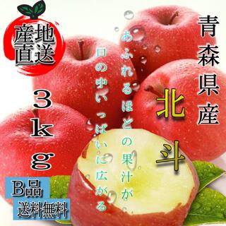 青森産  北斗 りんご 家庭用  3kg  農家直送 送料無料 リンゴ