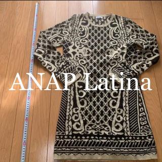 アナップラティーナ(ANAP Latina)のANAP Latina 美品 ワンピ 冬 ニットワンピ(ひざ丈ワンピース)