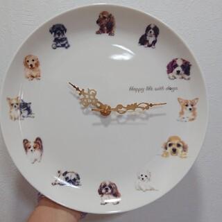 未使用☆掛け時計 犬 お皿 時計 わんコレ コーギー チワワ パピヨン