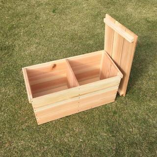 新品 蓋付 りんご箱 中板 2箱 // ウッドボックス 木箱 ボックス 収納