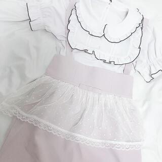Ank Rouge - 匿名配送 ♡ Ank Rouge ブラウス サス付きスカート セット