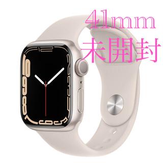 Apple Watch - Applewatch7 本体 スターライトアルミニウムケースとスポーツバンド