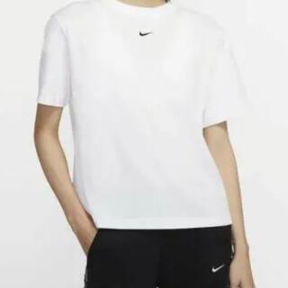 NIKE - 【新品未使用】NIKE センターロゴスウッシュ 白Tシャツ Lサイズ
