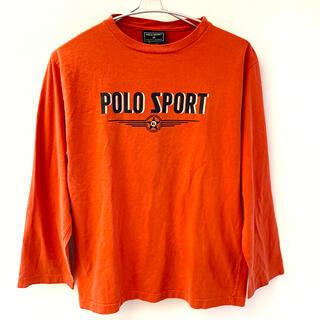 ポロラルフローレン(POLO RALPH LAUREN)のPOLO SPORT ポロラルフローレン 長袖Tシャツ ロンT オレンジ M(Tシャツ/カットソー(七分/長袖))
