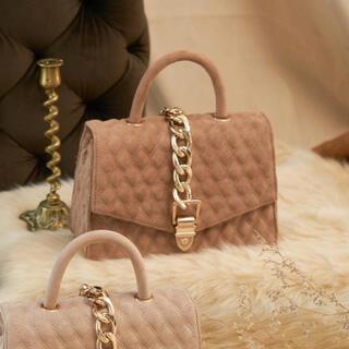 エイミーイストワール(eimy istoire)のDarich♡大人気‼︎即完売品♡gold chain Bag♡mocha(ハンドバッグ)