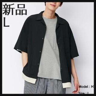 ジーユー(GU)のドライフエーク レイヤード シャツ Lサイズ 新品(シャツ)