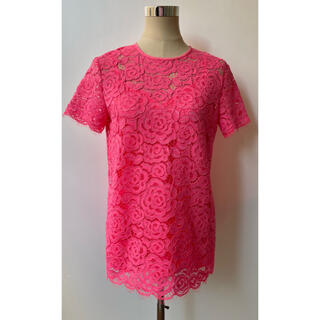 ダナキャランニューヨーク(DKNY)のDKNY ピンクレーストップス OO126(Tシャツ(半袖/袖なし))