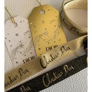 ディオール(Dior)のDIOR ホリデー  リボン 2本 タグ しおり ノベルティ ディオール ギフト(ラッピング/包装)