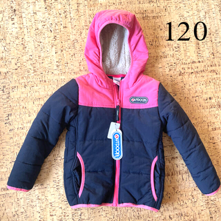 アウトドア(OUTDOOR)の女の子 120 アウター コート ダウン ジャンバー(ジャケット/上着)