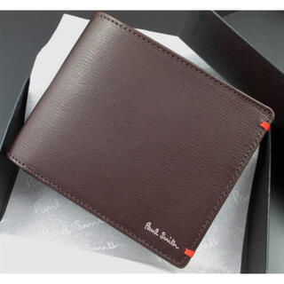 ポールスミス(Paul Smith)の贈り物に☆新品☆箱付 ポールスミス 人気カラーコンビ 折り財布 チョコ(折り財布)