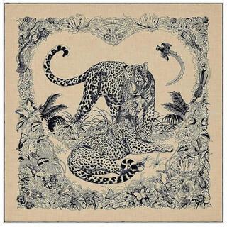 エルメス(Hermes)のエルメス カシミヤシルクストール カシシル ジャングルラブ(マフラー/ストール)