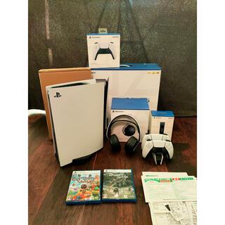 Plantation - PS5本体、ヘッドセット、デュアルセンス、電気スタンド、ソフト2つセット