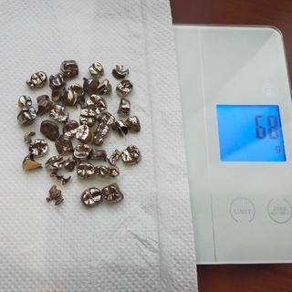 銀歯  約68g 金銀パラジウム パラジウム 歯牙 撤去冠 除去冠
