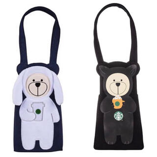 Starbucks Coffee - 2種セット!台湾 スターバックス べアリスタ ドリンクバッグ