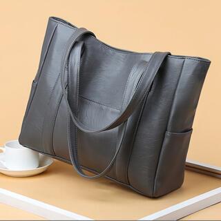 トートバッグ グレー 灰色 A4 大容量 レディース 高品質