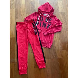 ヴィクトリアズシークレット(Victoria's Secret)のヴィクトリアシークレット LOVE PINK スウェットパーカー&パンツ(カジュアルパンツ)