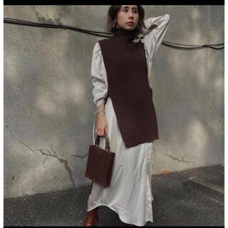 アメリヴィンテージ(Ameri VINTAGE)のvest  layered  shirt dress(ひざ丈ワンピース)