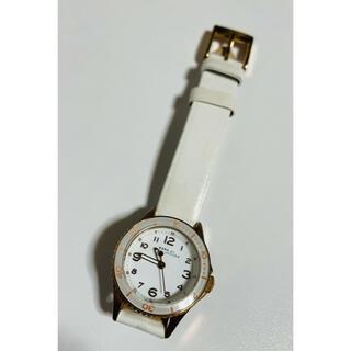 マークバイマークジェイコブス(MARC BY MARC JACOBS)の【電池新品の美品】マークバイマークジェイコブスの腕時計!ホワイト×ピンクゴールド(腕時計)