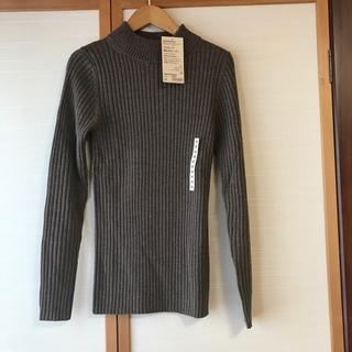 ムジルシリョウヒン(MUJI (無印良品))の無印 MUJI 厚手 洗える ハイネックセーター モカブラウン(ニット/セーター)