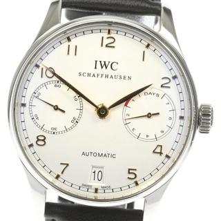 インターナショナルウォッチカンパニー(IWC)の☆良品  IWC ポルトギーゼ 7デイズ  IW500114 メンズ 【中古】(腕時計(アナログ))