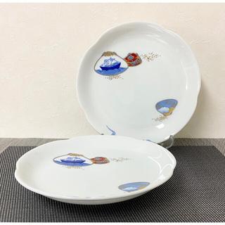 深川製磁 百年庵 貝合わせ 皿 2枚 新品 有田焼
