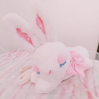 Angelic Pretty - おやすみBunnyぬいぐるみポーチ シロ