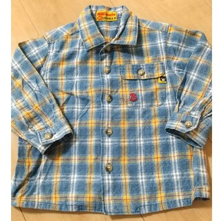 ミキハウス(mikihouse)のミキハウス チェックシャツ 80(シャツ/カットソー)