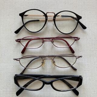 【まとめ売り】レディースメガネ4点セット