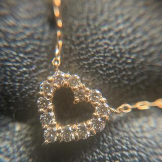 ハートダイヤブレスレット K18