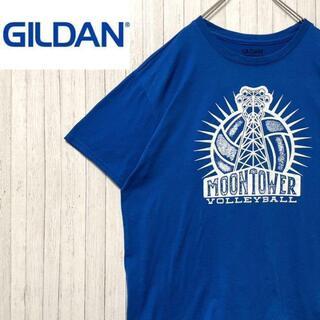 ハフ(HUF)のギルダン Tシャツ ビッグプリント ブルー バックプリント 半袖 青 L(Tシャツ/カットソー(半袖/袖なし))