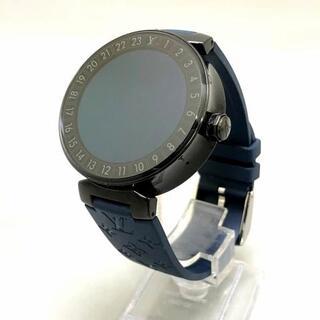 LOUIS VUITTON - ヴィトン 腕時計美品  QA002 メンズ 黒