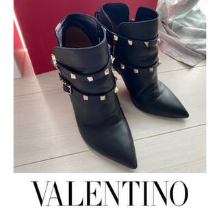 VALENTINO - VALENTINO ロックスタッズ ブーツ 38 ヴァレンティノ ブーティ