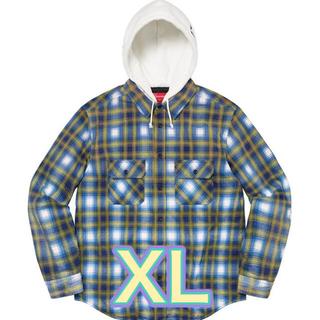 Supreme - supreme Hooded Flannel Zip Up Shirt 青