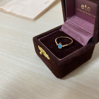 エテ(ete)のK10YG オパール&ダイヤモンド ピンキーリング[ete](リング(指輪))