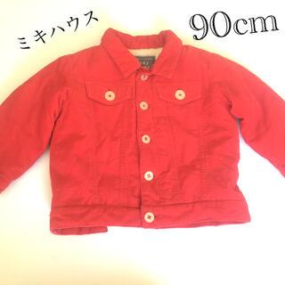 ミキハウス(mikihouse)のミキハウス ボアジャケット 90cm 赤(ジャケット/上着)
