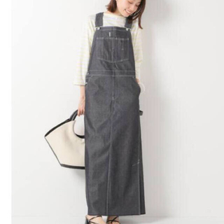 IENA - IENA購入 ユニオンランチ スーピマデニムオーバーオールスカート