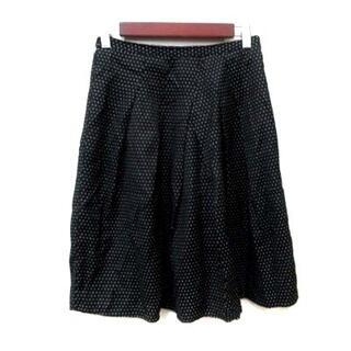 ミッシュマッシュ(MISCH MASCH)のミッシュマッシュ フレアスカート ミモレ ロング ドット S 黒 ブラック(ロングスカート)