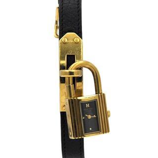 エルメス(Hermes)のエルメス 時計 ケリーウォッチ ブラック ゴールド(ブレスレット)