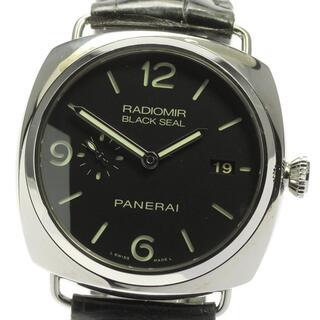 パネライ(PANERAI)の☆良品 パネライ ラジオミール ブラックシール 3デイズ メンズ 【中古】(腕時計(アナログ))