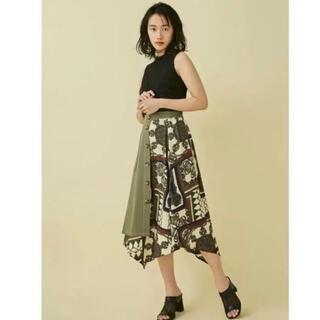 ムルーア(MURUA)のMURUA アシメントリーロングスカート(ひざ丈スカート)