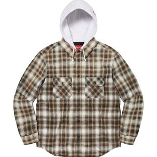 Supreme - Supreme Hooded Flannel Zip Up Shirt S