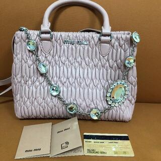 miumiu - miumiuピンクのハンドバッグ